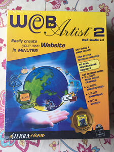 WEB ARTIST 2.0 BY SIERRA HOME (PC) (BRAND NEW & SEALED BIG BOX RELEASE)