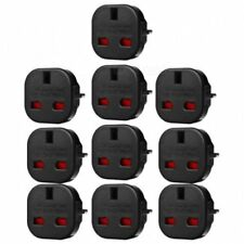 10X Travel Adaptor Black UK to EU Pin Convert Power European Plug Converter Euro