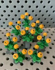 Lego Orange Flowers Bouquets With Leaves In Vases Plant Garden Greenery New 3pcs