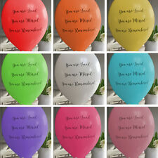 25 Rainbow Mix 'You Are Loved' Funeral Remembrance Condolence Balloons