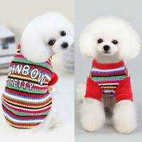 Pet Dog Sweater Cat Clothes Small Dog Coat jumper Warm Cat Knitted Costume Red