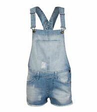 Ladies & KIDS Girls New Denim Dungaree Girls Short Jumpsuit Dress Playsuit Size