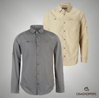 Mens Branded Craghoppers Outdoor Kiwi Trek Long Sleeve Shirt Top Size S-XXL