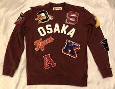 Iro-Ochi Osaka Patch Crewneck Pullover Maroon Men's M Tigers 24 Vguc
