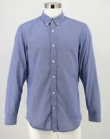 Banana Republic Button Down Shirt Sz Large Blue Soft Wash Tailored Slim Fit Mens