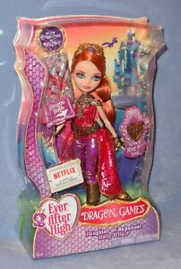 EVER AFTER HIGH DRAGON GAMES HOLLY O'HAIR DOLL RAPUNZEL DAUGHTER 2015 RED HAIR