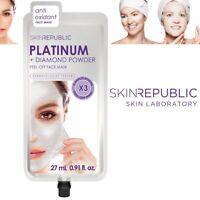 Skin Republic Platinum Diamond Powder Peel Off Anti Oxidant Face Mask Soft Skin