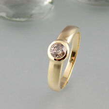 Ring mit ca. 0,50ct Brillant in 585/14k Gelbgold
