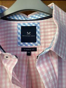 Mens Crew Clothing Pink Check Gingham Shirt Classic Fit Xxl