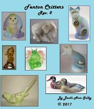 2017 Fenton Critters Rev 8 eBook Dog Cat Elephant Dragon Raccoon Bird Horse Deer