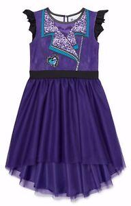 Girls Disney Descendants Mal Hoodie Tutu Dress 4 6 6X 7 8 10 Halloween Costume