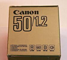CANON FD 50mm F1.2 Manual Focus Lens - MINT