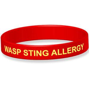 Wasp Sting Allergy Medical Alert Wristband