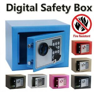 Digital Safe Box Fire Drill Resistant For Home Office Safety Security Storage