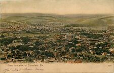 c1906 PCK Chromograph Postcard; Birdseye View of Clearfield PA Posted