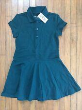 Girls Size 4 Green Pique Polo Uniform Dress Nwt