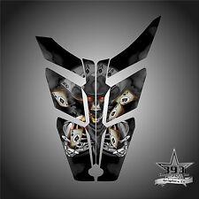 2010 - 2015 POLARIS PRO RMK - RUSH Decal Hood Wrap Graphics Outlaw Black