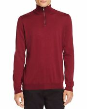 Hugo Boss Banello Quarter-Zip Virgin Wool Turtleneck Sweater. NWT.MSRP $195