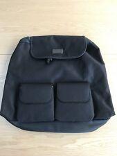 Aramis Back Pack Rucksack Black Canvas Bag NEW