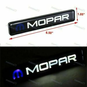 1Pcs For MOPAR New LED Light Car Front Grille Badge Illuminated Decal Sticker
