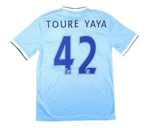 Manchester City 2013-14 Authentic Home Shirt Yaya Toure #42 (Excellent) M