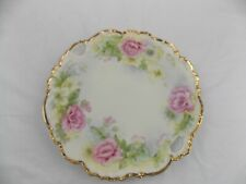Bavarian China Plate 24k trim with pierced handles Made in Germany