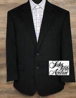 Saks Fifth Avenue Men's 100% Camel Hair Black 2-BTN Blazer Sport Coat Jacket 42S