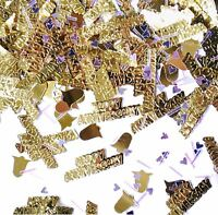 50th Anniversary Metallic Confetti Gold Silver Hearts Party Table Sprinkles