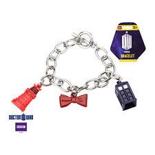 Doctor Who Tardis, Dalek, Bow Tie Metal Licensed Charm Bracelet
