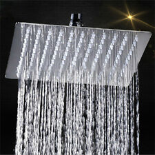 12 inch Stainless Steel Square Rain Shower Head Rainfall Bathroom Top Sprayer
