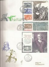 ITALY- 12 Oversized FDCs  all with  Souvenir sheets ( Columbus/Soccer theme)