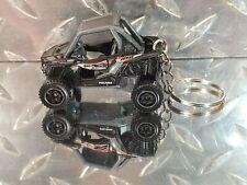 2020 Matchbox Black Polaris RZR ATV 4X4X4 MBX Jungle Off Road Custom Key Chain