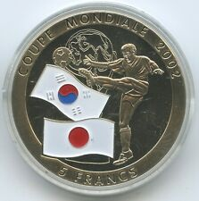 G0359 - Kongo 5 Francs 2002 Japan & Süd-Korea Fussball WM Farbmünze Congo