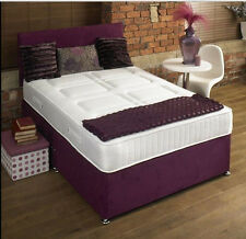 CHENILLE MEMORY FOAM DIVAN BED SET WITH MATTRESS  HEADBOARD 3FT 4FT6 Double 5FT