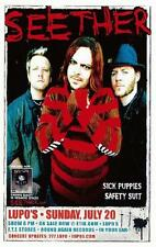 SEETHER LUPO'S CONCERT POSTER PROVIDENCE 2008