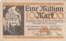 1 MILLION MARK FINE BANKNOTE FROM GERMANY/LEIPZIG 1923