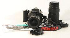 PENTAX 645 BODY W/45-85MM 80-160 LENSES,MANUAL,BAG,BODY LENS CAPS MORE