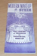"VTG 1936 Theatre Guide/Catalog~""MODERN MAKE-UP by STEIN""~Price List~ILLUSTRATED~"