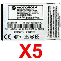 LOT OF 5 OEM Motorola SNN5683A SNN5683 Battery For V266 V276 V300 V400 V500 V551