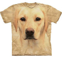 THE MOUNTAIN YELLOW LAB LABRADOR   DOG PUPPY ANIMAL  BIG FACE ADULT  T SHIRT