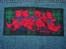 Tartan Scottish Plaid Baby Gap Jean Jacket 12-14 M Bear Block Blackwatch Flannel