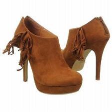 """XOXO Ivie ankle boot bootie 5"""" heel cognac sz 9 Med NEW"""