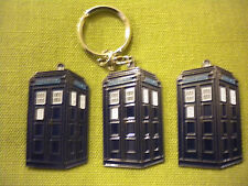 POLICE BOX  DOCTOR WHO TARDIS, PIN BADGE, FRIDGE MAGNET AND KEYRING