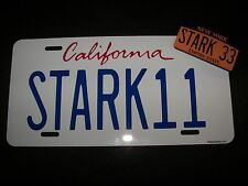 Iron Man 2,  Tony Stark's 2010 Audi R8 , STARK 11  Prop License Plate