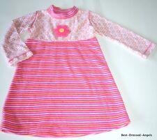 NWOT MIS TEE V-US Boutique Pink Velour Striped Dress Toodler Girl Size 2 So Cute