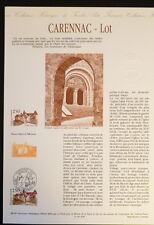 FRANCE MUSEE POSTAL FDC 26-91   CARENNAC LOT    2,50F   CARENNAC   1991