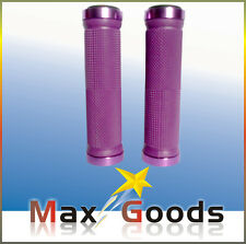 SCOOTER PURPLE GRIPS DOUBLE SIDE LOCK ON HANDLE BAR GRIPS WITH BAR ENDS