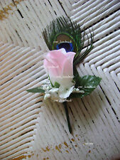 Peacock Rose Boutonniere*Corsage*your choice*Groom*Prom*Wedding*Quinceanera