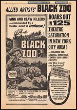 Black Zoo_Orig. 1963 Trade Ad horror promo / poster_Herman Cohen_Jeanne Cooper