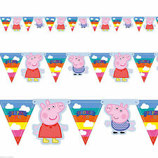Peppa Pig Birthday, Child Party Buntings